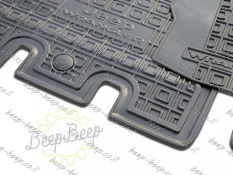 AV-G Fully Tailored Rubber / Set of 5 Car Floor Mats Carpet for JEEP WRANGLER UNLIMITED JK 2014—2017 - Picture 10