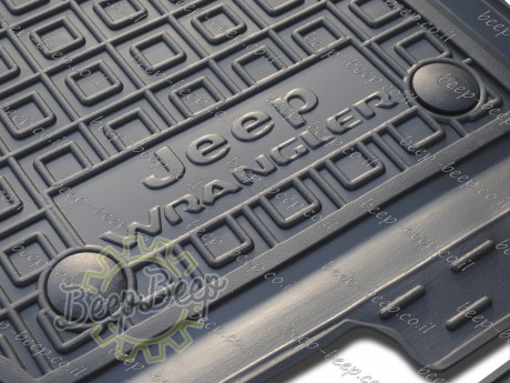 AV-G Car Floor Mats for JEEP WRANGLER UNLIMITED JL 2018—2020 Custom Fit All Weather Liners - Picture 1