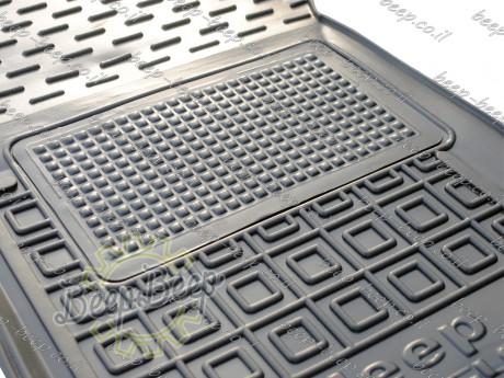 AV-G Fully Tailored Rubber / Set of 5 Car Floor Mats Carpet for JEEP WRANGLER UNLIMITED JL 2018—2020 - Picture 3