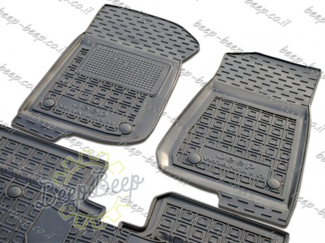 AV-G Car Floor Mats for JEEP WRANGLER UNLIMITED JL 2018—2020 Custom Fit All Weather Liners - Picture 4