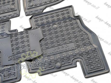 AV-G Fully Tailored Rubber / Set of 5 Car Floor Mats Carpet for JEEP WRANGLER UNLIMITED JL 2018—2020 - Picture 8