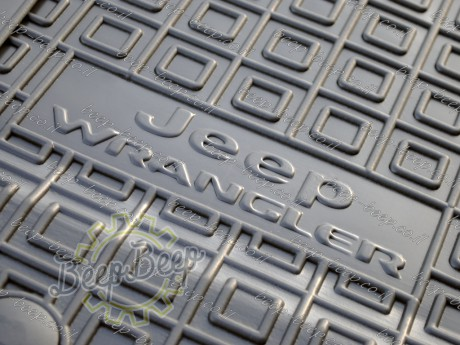 AV-G Car Floor Mats for JEEP WRANGLER UNLIMITED JL 2018—2020 Custom Fit All Weather Liners - Picture 9