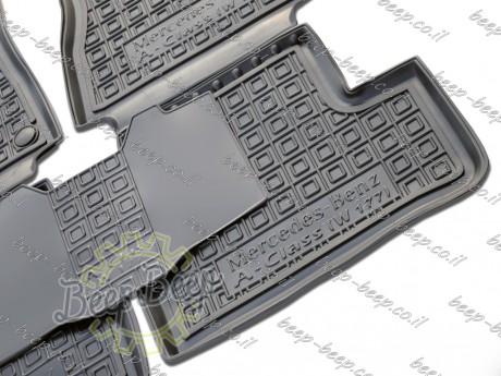 AV-G Fully Tailored Rubber / Set of 5 Car Floor Mats Carpet for MERCEDES A-CLASS W177 2019—2020 - Picture 6
