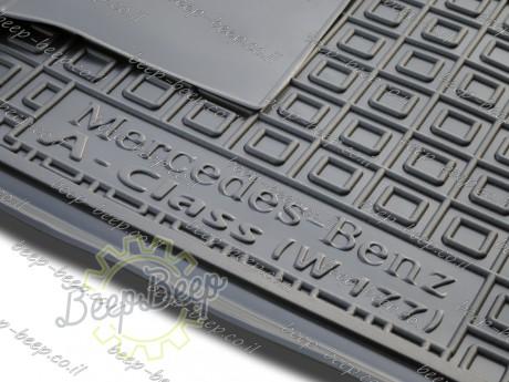 AV-G Fully Tailored Rubber / Set of 5 Car Floor Mats Carpet for MERCEDES A-CLASS W177 2019—2020 - Picture 12