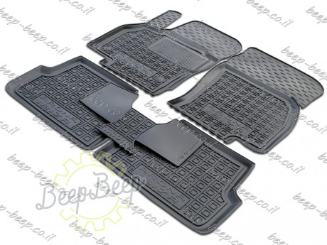 AV-G Fully Tailored Rubber / Set of 5 Car Floor Mats Carpet for SEAT IBIZA V 2017—2020 - Picture 1