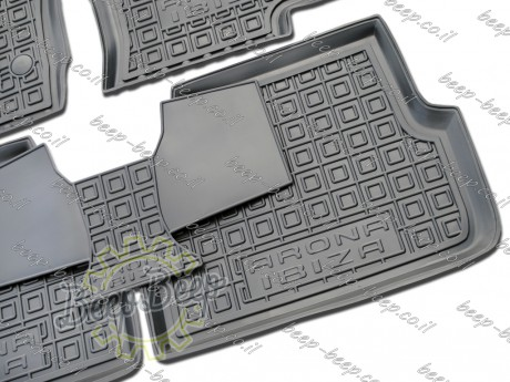 AV-G Fully Tailored Rubber / Set of 5 Car Floor Mats Carpet for SEAT ARONA I 2017—2020 - Picture 7