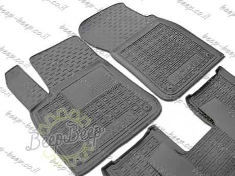 AV-G Fully Tailored Rubber / Set of 5 Car Floor Mats Carpet for VOLKSWAGEN TOUAREG III 2018—2020 - Picture 3