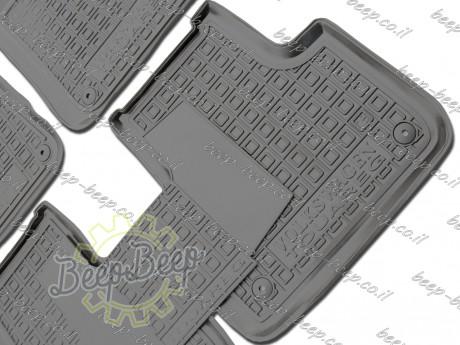 AV-G Fully Tailored Rubber / Set of 5 Car Floor Mats Carpet for VOLKSWAGEN TOUAREG III 2018—2020 - Picture 5