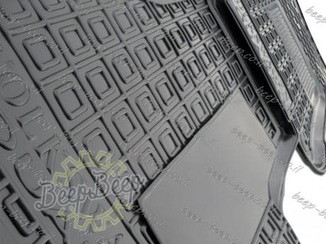 AV-G Fully Tailored Rubber / Set of 5 Car Floor Mats Carpet for VOLKSWAGEN TOUAREG III 2018—2020 - Picture 6