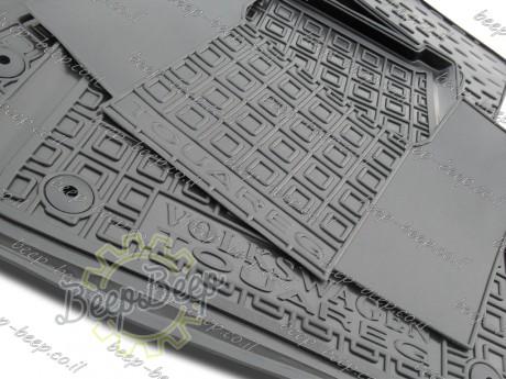 AV-G Fully Tailored Rubber / Set of 5 Car Floor Mats Carpet for VOLKSWAGEN TOUAREG III 2018—2020 - Picture 7