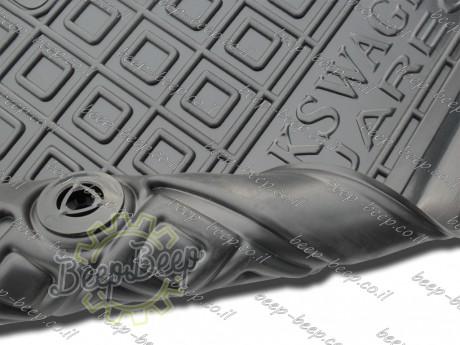 AV-G Fully Tailored Rubber / Set of 5 Car Floor Mats Carpet for VOLKSWAGEN TOUAREG III 2018—2020 - Picture 10