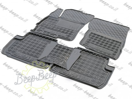 AV-G Fully Tailored Rubber / Set of 5 Car Floor Mats Carpet for MITSUBISHI ECLIPSE CROSS 2017—2020 - Picture 1