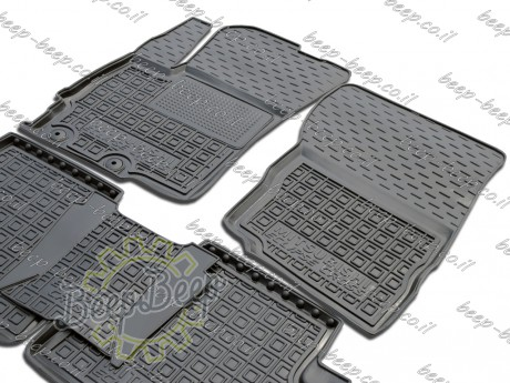 AV-G Fully Tailored Rubber / Set of 5 Car Floor Mats Carpet for MITSUBISHI ECLIPSE CROSS 2017—2020 - Picture 3