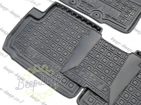 AV-G Fully Tailored Rubber / Set of 5 Car Floor Mats Carpet for MITSUBISHI ECLIPSE CROSS 2017—2020 - Picture 4