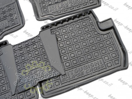 AV-G Fully Tailored Rubber / Set of 5 Car Floor Mats Carpet for MITSUBISHI ECLIPSE CROSS 2017—2020 - Picture 5
