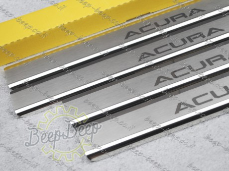 N.Niko Door sill lining / Chrome cover / Scuff plate for ACURA MDX (YD2) 2006—2013 - Picture 4