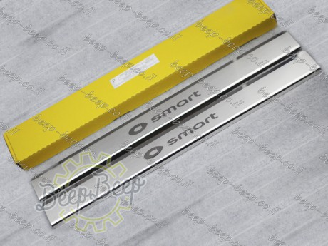 N.Niko Door sill lining / Chrome cover / Scuff plate for SMART FORTWO W453 2015—2020 - Picture 2