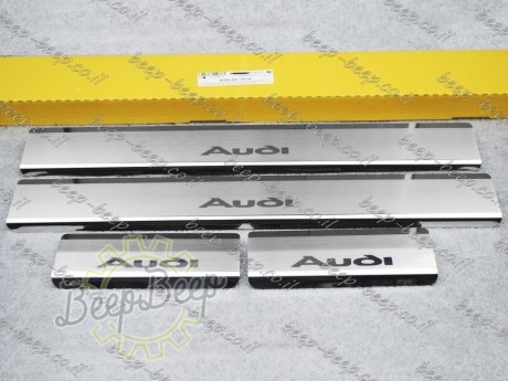 N.Niko Door sill lining / Chrome cover / Scuff plate for AUDI Q2 I 2016—2020 - Picture 1