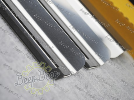 N.Niko Door sill lining / Chrome cover / Scuff plate for TESLA MODEL S 2012—2018 - Picture 6