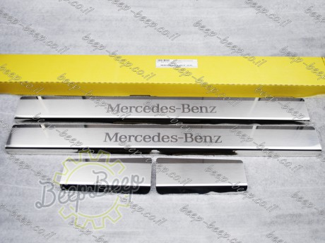 N.Niko Door sill lining / Chrome cover / Scuff plate for MERCEDES A-CLASS W177 2019—2020 - Picture 1