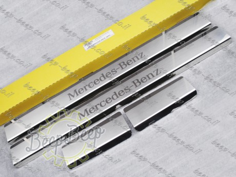 N.Niko Door sill lining / Chrome cover / Scuff plate for MERCEDES A-CLASS W177 2019—2020 - Picture 2