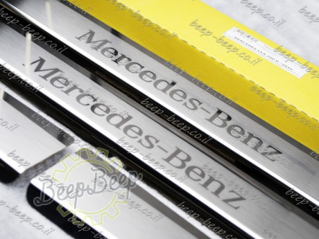 N.Niko Door sill lining / Chrome cover / Scuff plate for MERCEDES A-CLASS W177 2019—2020 - Picture 3