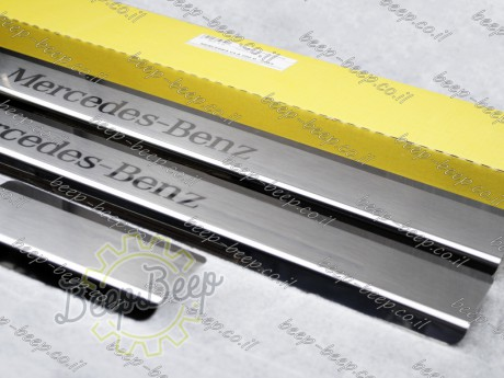 N.Niko Door sill lining / Chrome cover / Scuff plate for MERCEDES A-CLASS W177 2019—2020 - Picture 4