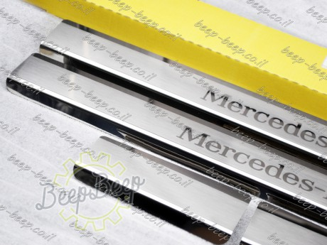 N.Niko Door sill lining / Chrome cover / Scuff plate for MERCEDES A-CLASS W177 2019—2020 - Picture 5