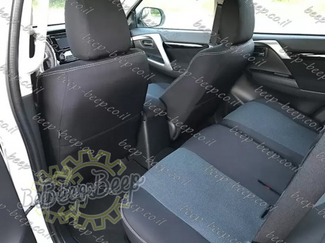 EMC-El Set front + rear of fully tailored seat covers for MITSUBISHI PAJERO SPORT III 2016—2020 - Picture 13