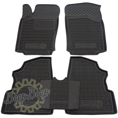 AV-G Car Floor Mats for OPEL COMBO C 2001—2011 Custom Fit All Weather Liners - Picture 1