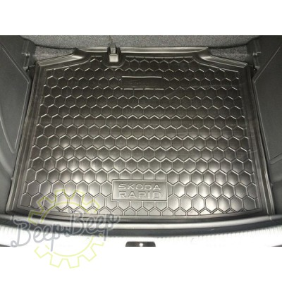 AV-G Cargo Trunk Mat for SKODA RAPID I SPACEBACK 2012—2020 Custom Fit Tray Boot Liner - Picture 1
